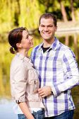 Lovely young couple outdoors — Stock Photo