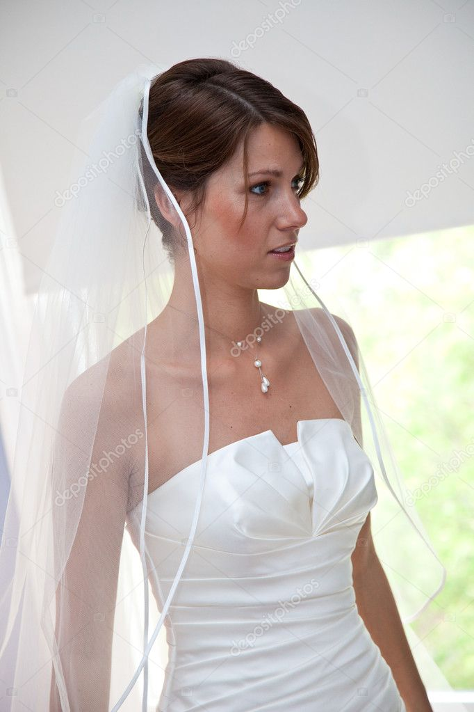 Beautiful young bride on her weddingday — Stock Photo #3445944