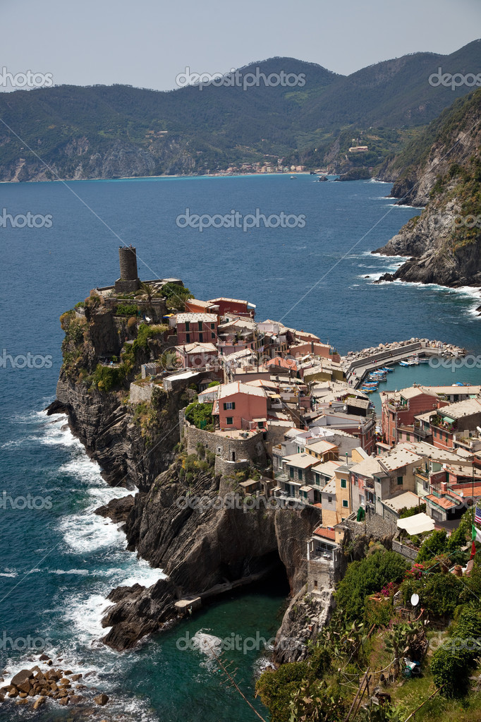 Little town in the cinque terre called Vernazza  Stock Photo #3445966