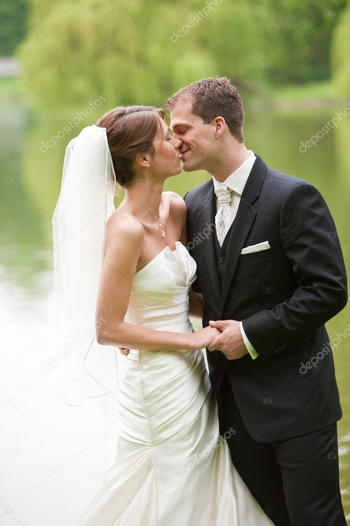 Attractive young couple ready on their wedding day — Stock Photo #3488252