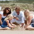 Buidling a sandcastle together — Stock Photo #3766962