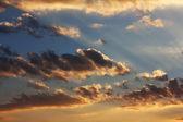 Nubes al atardecer — Foto de Stock