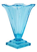 Blue Glass Vase isolated — Stock Photo