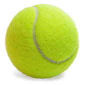 Tennis Ball isolated — Stock fotografie