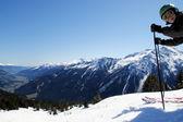Skiing is beautiful — Stock Photo