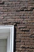 Brown color brick wall — Foto de Stock