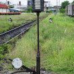 Railway selector switch — Stock Photo