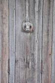 Buzzer on wooden wall — Stockfoto