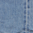 Stock Photo: End rim line texture of blue jean