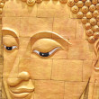 Gold color buddha head — Foto de Stock
