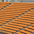 Orange seat  in stadium — Stock Photo
