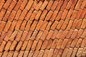 Nature of brick wall in side view — Stock Photo