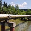The main gas pipeline of a high pressure. — Stock Photo