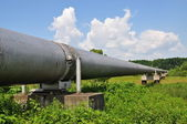 The main gas pipeline of a high pressure — Stock Photo