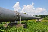 主要天然气管道压力高 — 图库照片