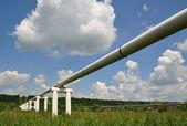 主要的石油管道的压力高 — 图库照片