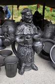 Verre de vin sous la forme du moine. — Photo