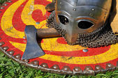 Braços do soldado medieval. — Foto Stock