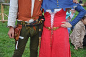 El traje medieval europeo. — Foto de Stock