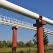 Stock Photo: High pressure pipelines