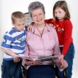 Grandmother with grandchildren — Stock Photo #3011538