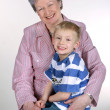 Stock Photo: Grandmother with grandson.
