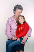 Grandmother with granddaughter. — Stock Photo
