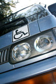 Disability sign on the car — Stock Photo