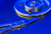 Hard drive disc macro view — Photo