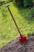 Spade in the soil — Stock Photo