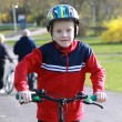 Young boy on bike. — Stock Photo