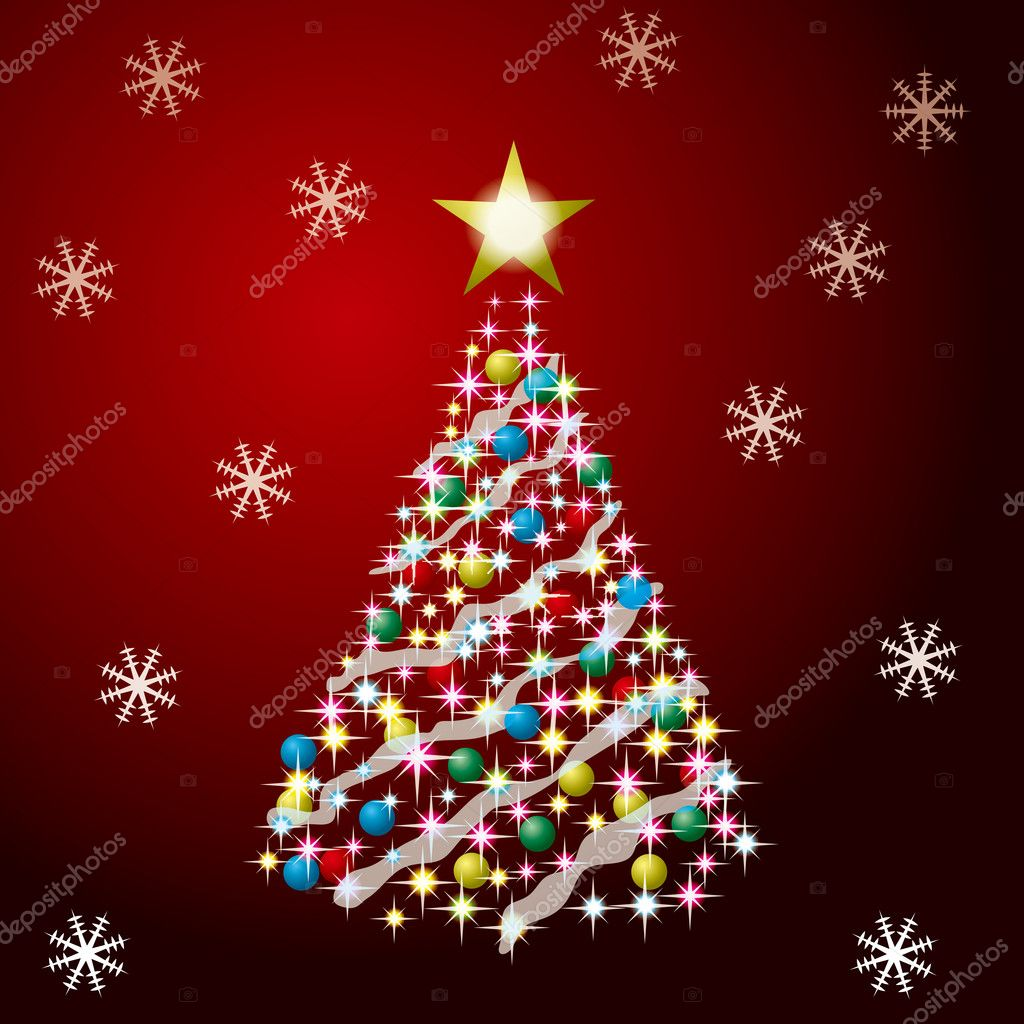 Christmas Tree — Vektorgrafik #2974529