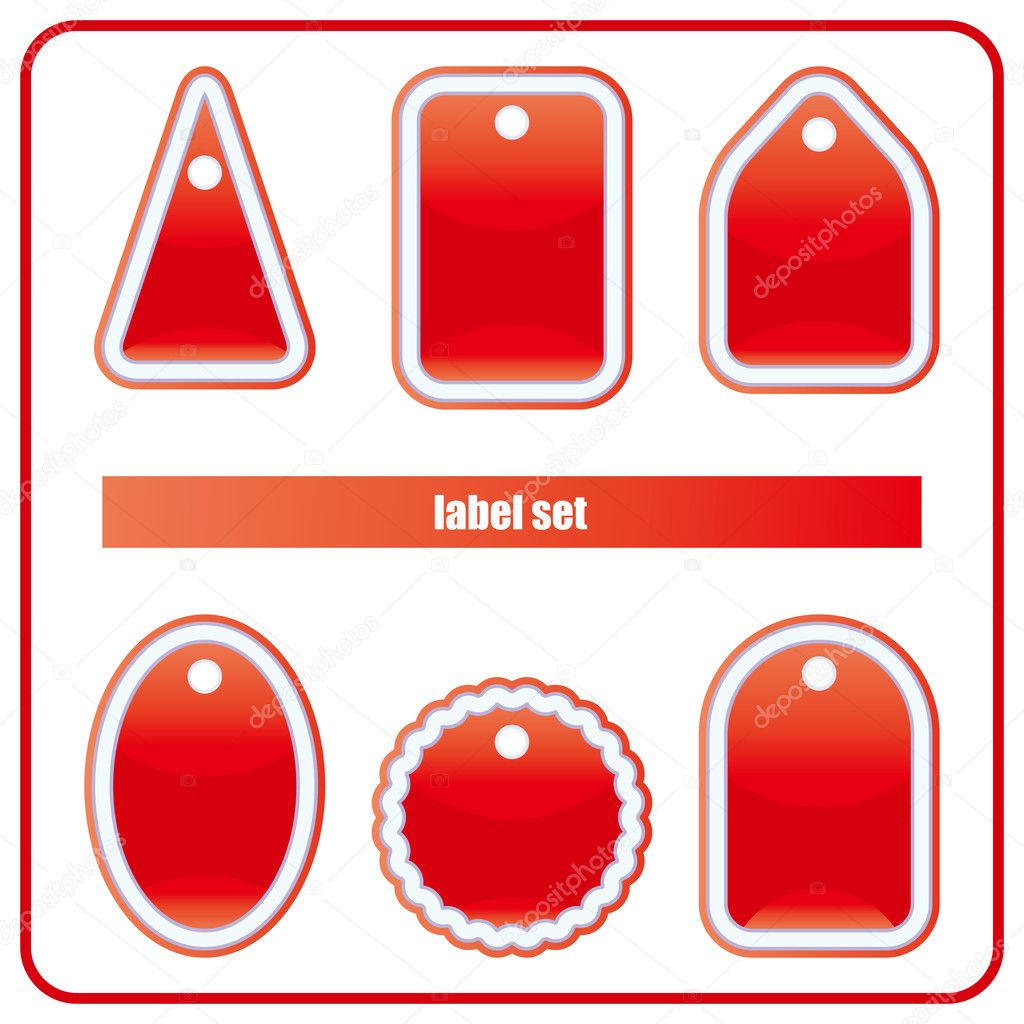 Red Label Set — Stock Vector #2977839