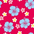 Seamless Hibiscus Pattern - Stock Vector