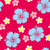 Seamless Hibiscus Pattern — Stock Vector