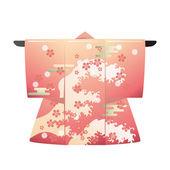 Japanese Kimono — Stock Vector