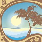 Spiaggia — Vettoriale Stock