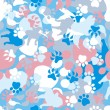 Seamless Dog Camouflage Pattern — Stock Vector