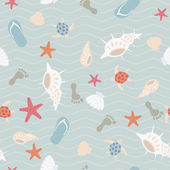 Seamless sea pattern — Stock Vector