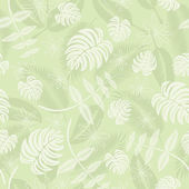 Seamless tropical leafs pattern — Stock Vector