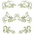 Floral elements set - Stock Vector