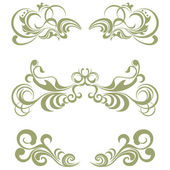 Floral elements set — Stock Vector