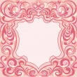Abstract Floral Decoration Frame — Stock vektor