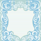 Abstract Floral Decoration Frame — Stock Vector