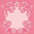 abstracte roze decoratie frame — Stockvector