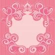 Абстрактный розовый украшение кадра — Cтоковый вектор
