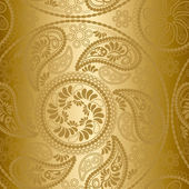 Modello senza saldatura oro mandala — Vettoriale Stock