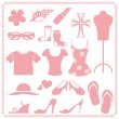 Royalty-Free Stock Vector Image: Women fashion icon sets