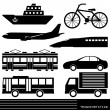 Stock Vector: Transportation silhouette