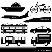 Transportation silhouette — Stock Vector